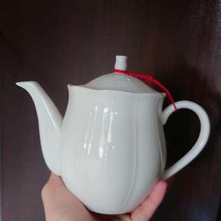 🚚 茶壺 白色 瓷器 大同 喝茶