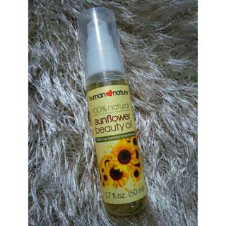 Human Nature 100% Natural Sunflower Beauty Oil
