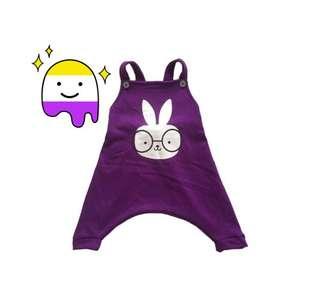 Overall purple rabbit