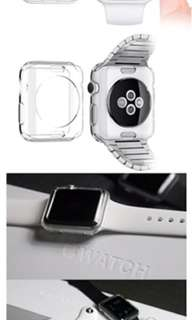 iwatch soft tpu case clear protective cover 42mm