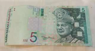 Duit Lama RM5 (Old bank note)