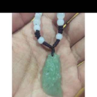 {FS138} *CLEARENCE* Small Pi Xiu Leaf Jadeite pendent