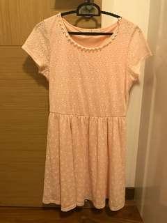 Babydoll pink flower dress