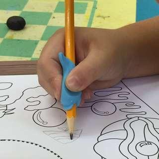 Dolphin Pencil Grip / Pencil Corrector Tool / Pencil Holding / Rubber Pencil Grip