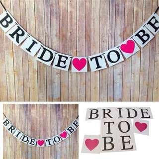 👰🏻Bride-to-be Party Flags Decorations
