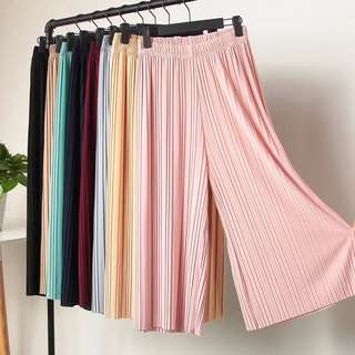 INSTOCK Pink Pleated Culottes