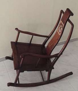 Antique Wooden Rocking Chair from Shanghai