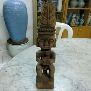 Wood Carving Sculpture Vintage 12