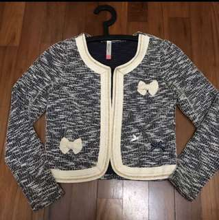 Korean tweed cardigan