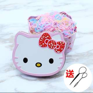 Hello Kitty box with rubberband