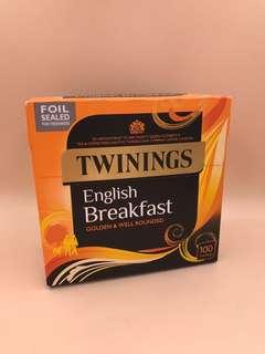 英國直送 全新 Twining English Breakfast 100 Tea Bag