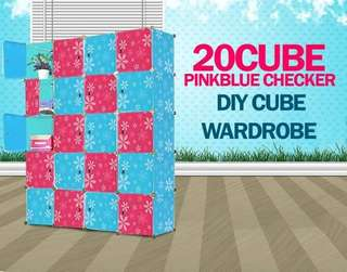 CHECKER 20 CUBE DIY WARDROBE
