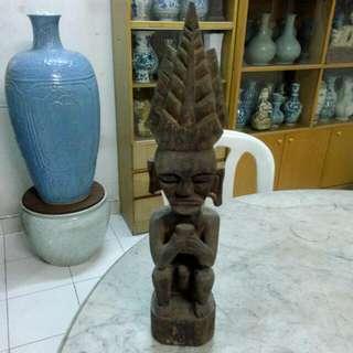 Wood Carving Sculpture Vintage 15