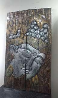 木雕禪風板