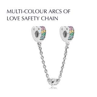 Bnis pandora MULTI-COLOUR ARCS OF LOVE SAFETY CHAIN