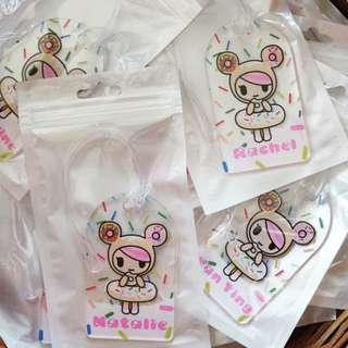 CUSTOM BAG TAG donutella tokidoki