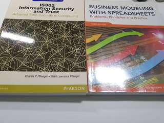IS 302 Information Security and Trust & Business Modeling with Spreadsheets (CAT)