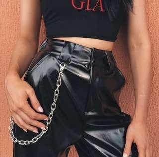 I.AM.GIA leather chain pants