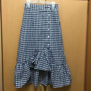 BN asymmetric ruffle skirt