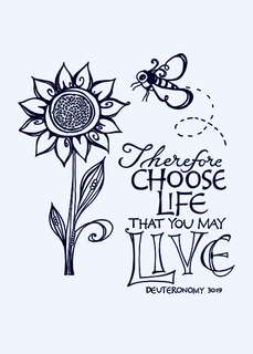 Scripture Stamp Set - Choose Life