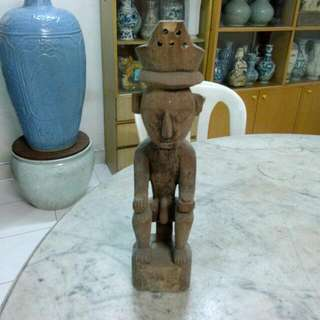 Wood Carving Sculpture Vintage 16
