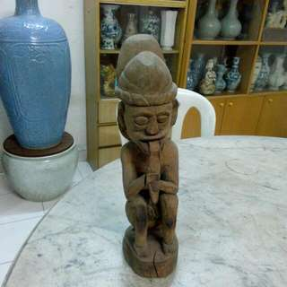 Wood Carving Sculpture Vintage 17