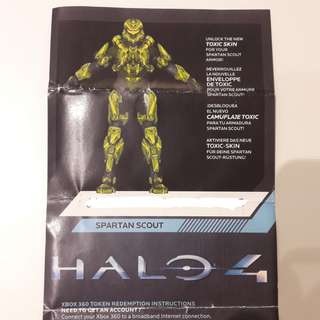 Halo 4 Toxic Skin (Spartan Scout Armor) redeem code - Xbox 360