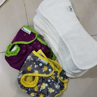 BEST BOTTOM REUSABLE CLOTH DIAPER COVERS AND INSERTS. TAKE ALL