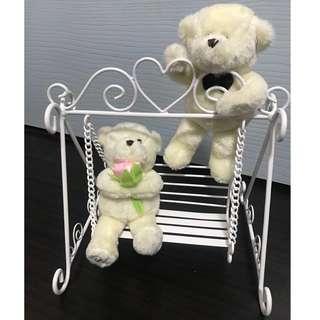 Couple bear swing