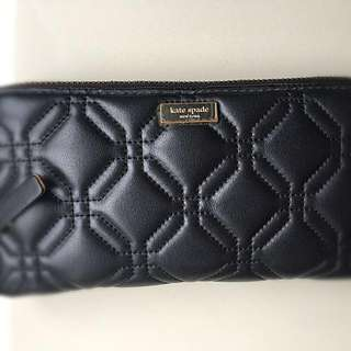 Kate Spade Quilted Soft Leather Zip Around Wallet