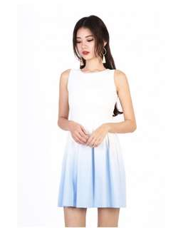 Mgp label SHINE OMBRE DRESS IN LIGHT BLUE