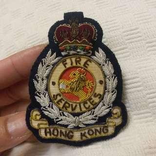 港英殖民地時期~香港政府~皇冠頭徽章(罕見款式)