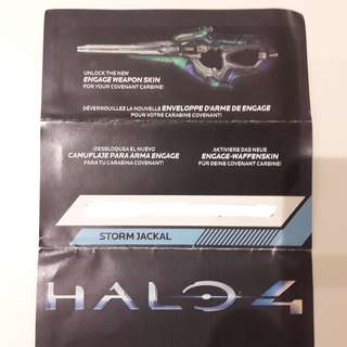 Halo 4 Engage Weapon Skin (Covenant Carbine) redeem code - Xbox 360