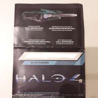 Halo 4 Chill Weapon Skin (Storm Rifle) redeem code - Xbox 360