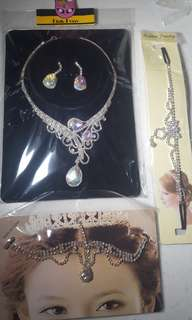 Hair accessory & necklace set (all for $20)