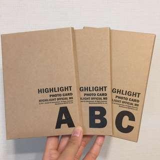 Highlight postcard set