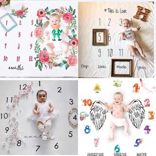 Baby Infant Monthly Photoshoot Backdrop Cloth Tapestry