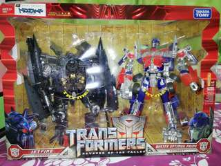 Transformers ROTF Jetfire and Buster Optimus Prime