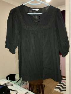 Cotton Black Blouse