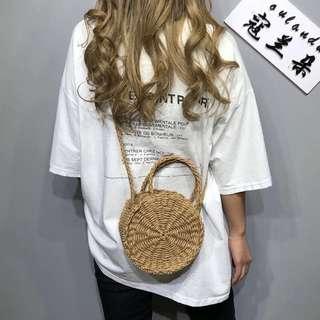 Round basket bag