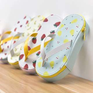 Instock Pencil Case Flip Flop Slippers Cute Fruit Watermelon Banana Strawberry Pear