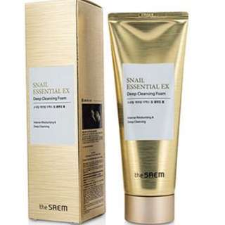 The SAEM Snail Essential EX Deep Cleansing Foam 150g