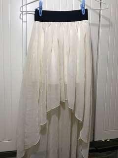 前短後長雪紡裙