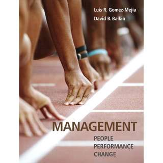 Management People Performance Change 1st First Edition by Luis R. Gomez-Mejia, David B. Balkin - Pearson