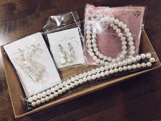 The Pearl Series of Necklaces and Earrings