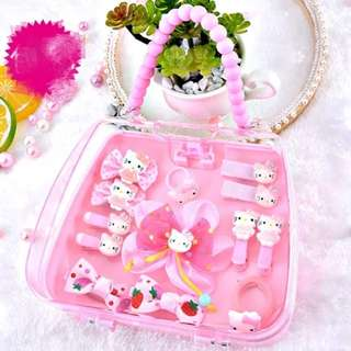 Hello Kitty Bag Hair Set