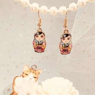 $20 全新俄羅斯娃娃耳環