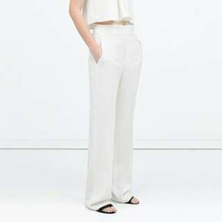 Cream Highwaisted Trousers