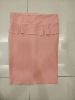 Peach color corporate working skirt