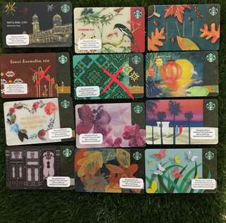 Starbucks Cards for sales(no credit) RM10/each